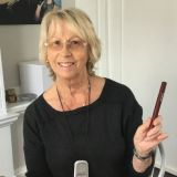 Patricia Britton with her hearing aids
