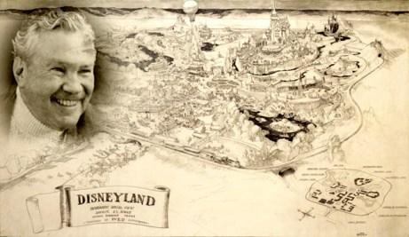 Herb Ryman and his rendering of Disneyland