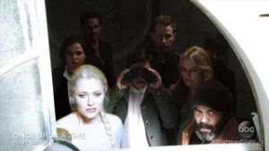 Watching the spell approach Storybrooke from the clock tower.  I don't know why this visual was so amusing to me....