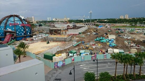 downtown disney construction - wordless wednesday