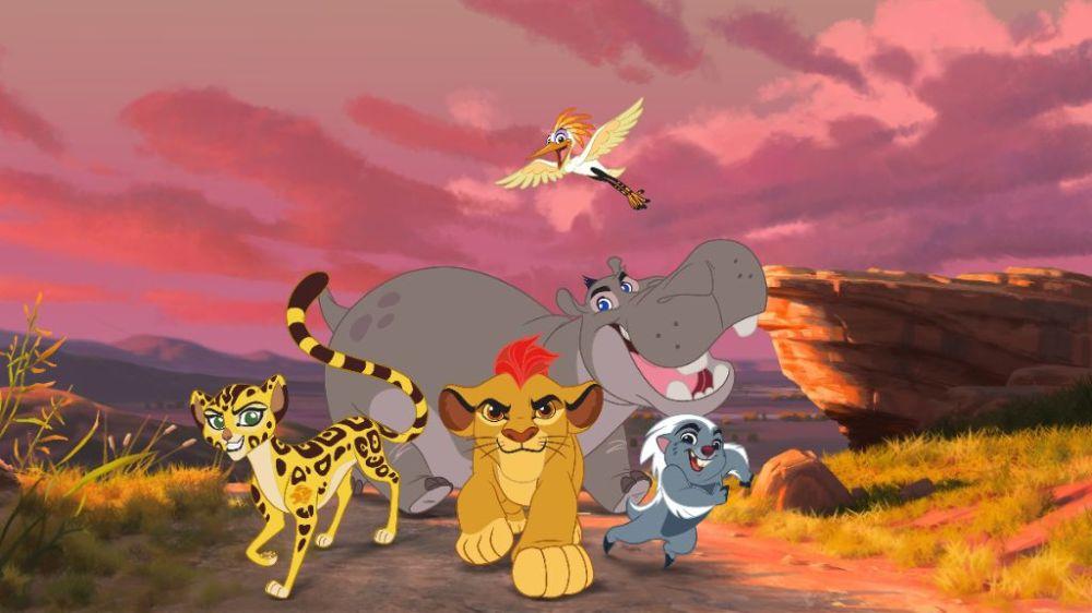 FULI, KION, ONO , BESHTE, BUNGA, lion guard