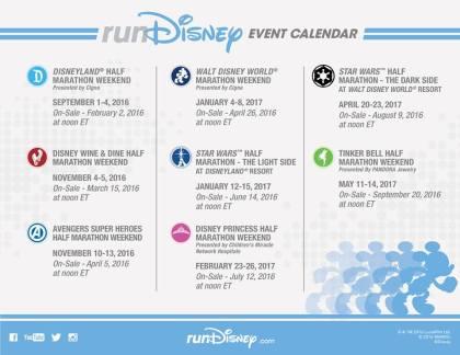 run disney calendar 2016-17