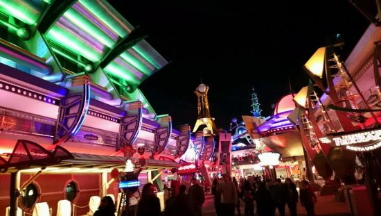 tomorrowland at night - wordless wednesday