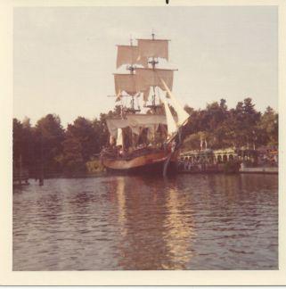 Disneyland's Sailing Ship Columbia, 1973 - Throwback Thursday