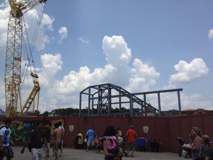 Mine Train Construction - Throwback Thursday