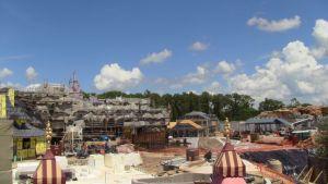 construction of new fantasyland september 2011