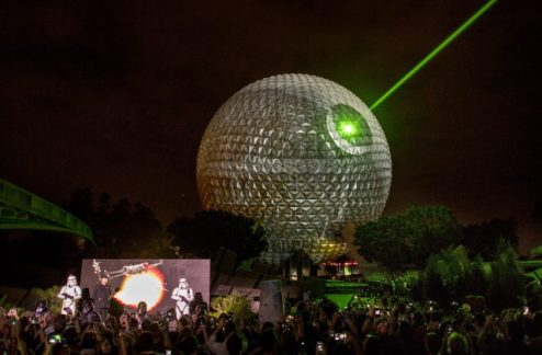 Epcot Spaceship Earth Death Star
