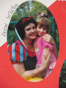 Ashley (age 5) with Snow White