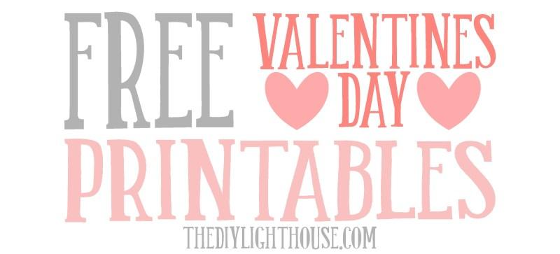 Large Of Free Valentine Printables