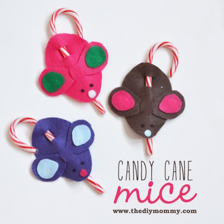 Candy Cane Mice a la Martha Stewart on The DIY Mommy