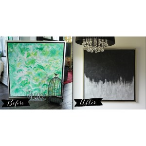 Groovy Bedroom Diy Silver Black Canvas Art From A Thrifted Painting Make Artwork From Thrift Store Canvas Art Diy Mommy Large Canvas Art Australia Large Canvas Art