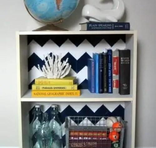 Chevron bookcase