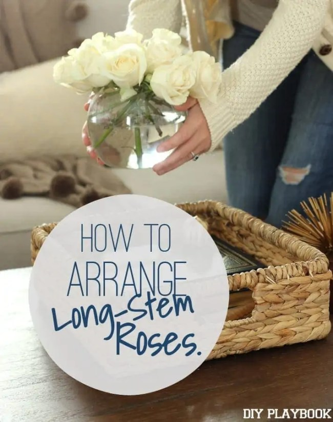 How to arrange long-stem roses