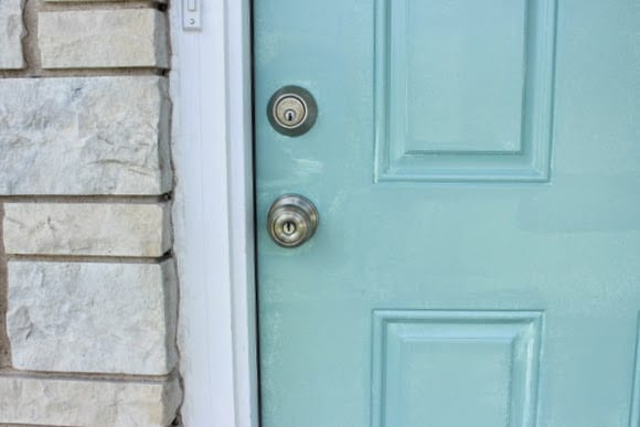 First Coat Paint Front Door Blue