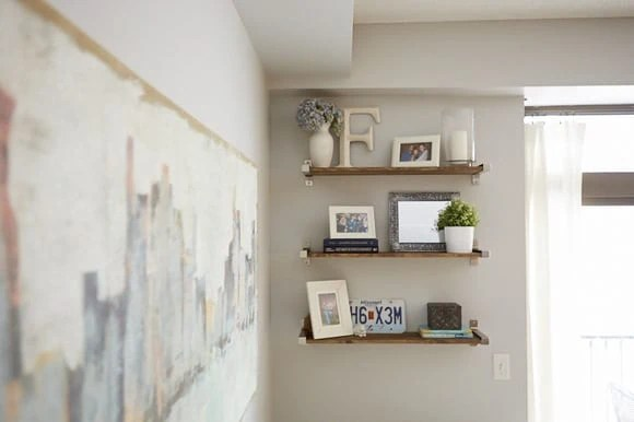 rustic ikea shelves hack