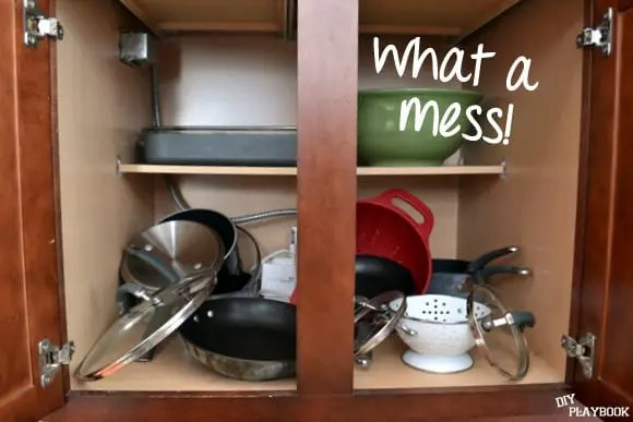 messy kitchen cabinets