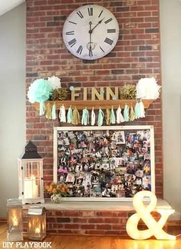 Bridal-Shower-Fireplace-Display