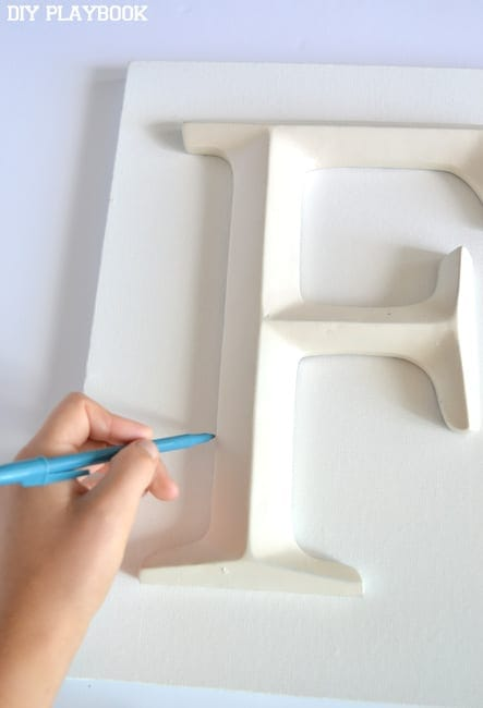 Tracing-a-letter