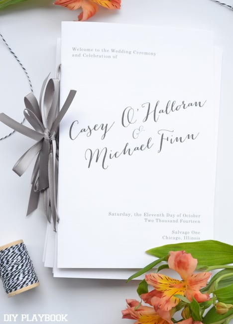 Our-Wedding-Programs