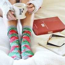 christmas socks coffee