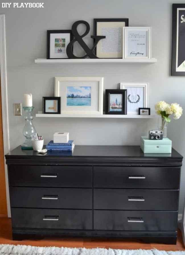 Bedroom-Dresser-Picture-Ledges