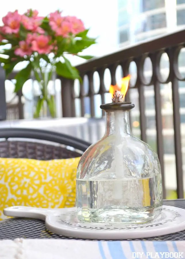 DIY citronella candle outdoor entertaining