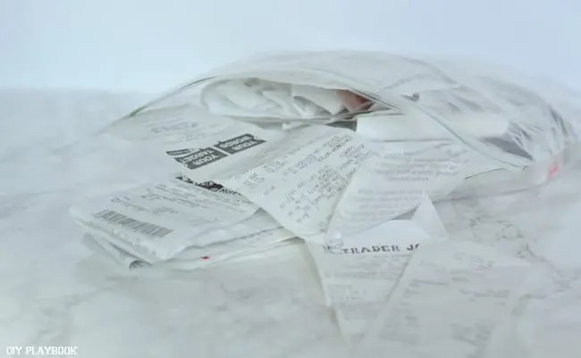 Bag-of-receipts