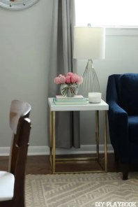Gold Office Makeover table