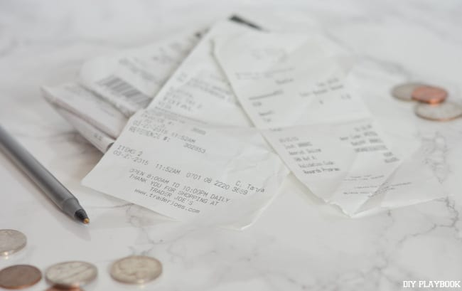 Receipts-Change-Money