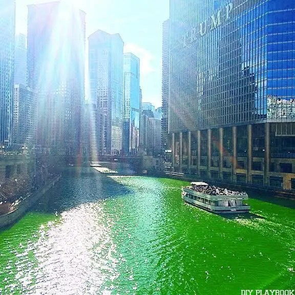 chicago st. patricks day green