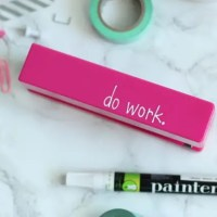 DIY Personalized Office Supplies