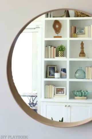 Mirror Maggie Built in Shelves