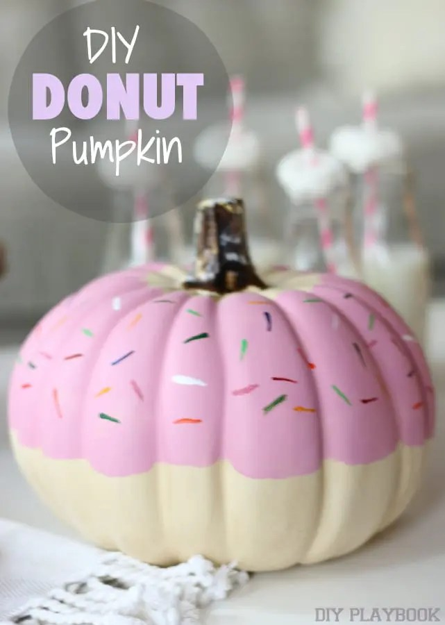 DIY Donut Pumpkin milk
