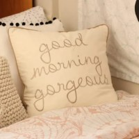 good morning gorgeous pillow dormify