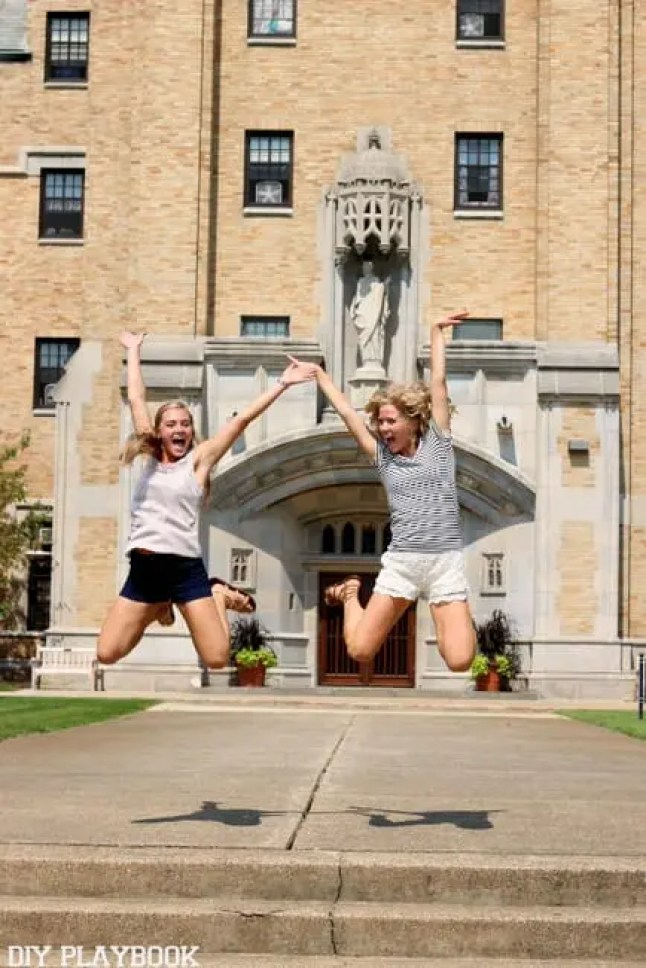 jumping st. mary's college fran grace dorm