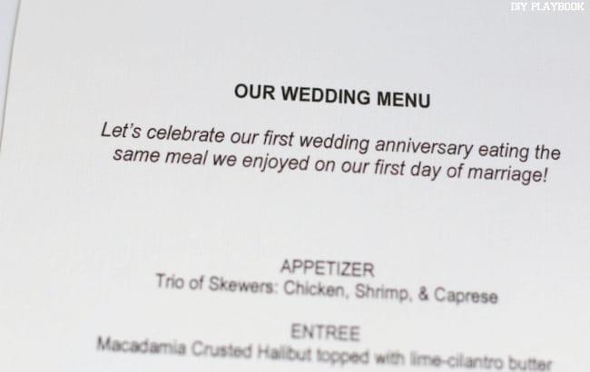 1-Our Wedding Menu