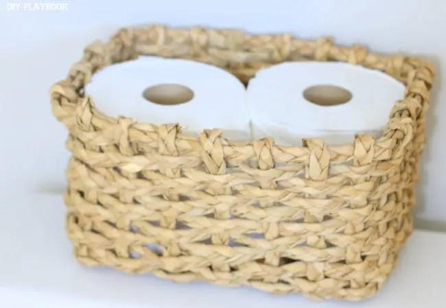 Basket of Toilet Paper