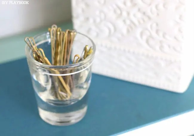 Bobby Pins in Shot Glass