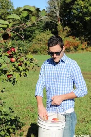Matt Apple Picking Orchard