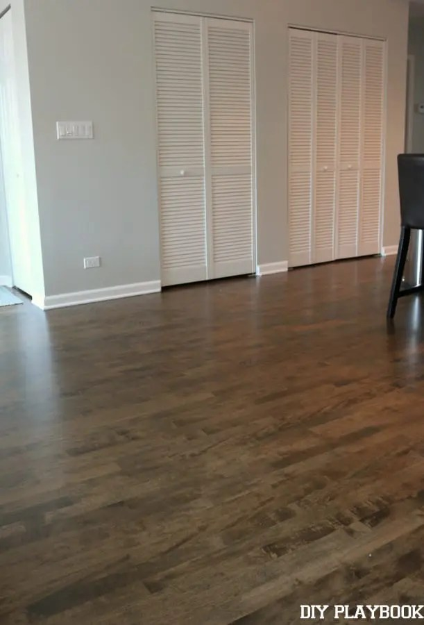 empty spot for dining table