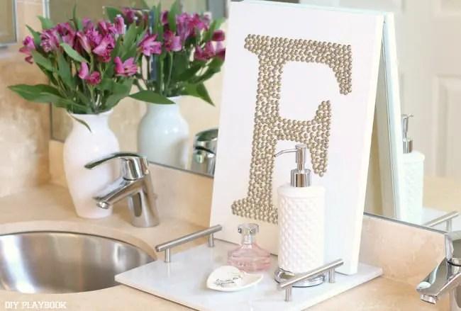 master bathroom counter top accessories