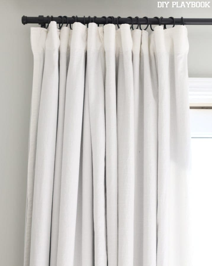 7 ikea curtains white black rod diy playbook for White curtains ikea