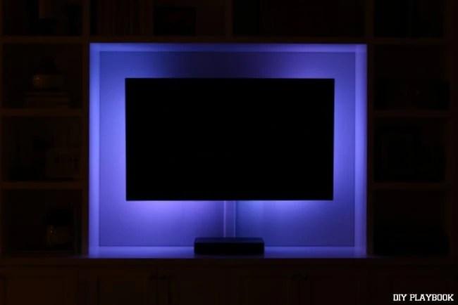 blue-led-lights-television