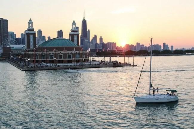 Chicago_travel_sunset