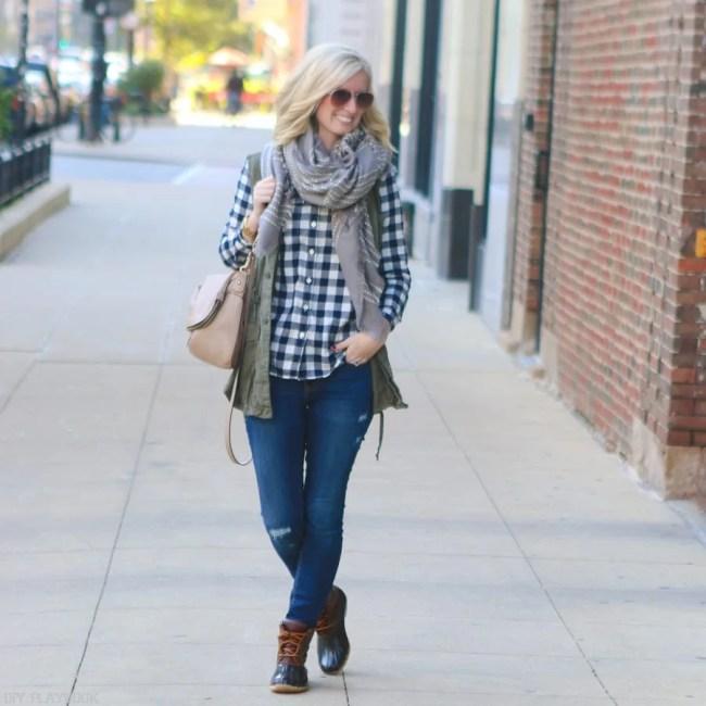 bridget-fall-plaid-vest-boots-jeans-casual-fashion-5