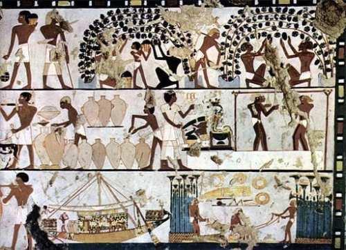 egyptian wine making