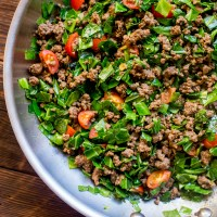 Sukuma Wiki (Kenyan Braised Collard Greens and Ground Beef)