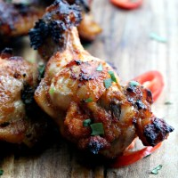 grilled thai red curry lime drumlets | a review of the panasonic steam convection microwave oven