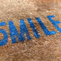 DIY 'SMILE' Doormat
