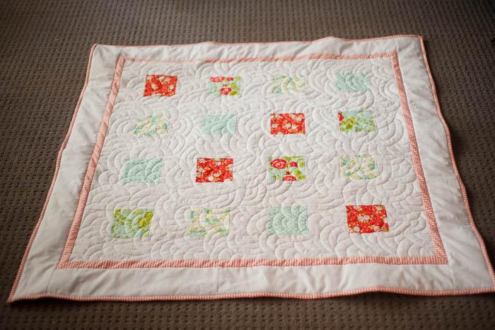 charm square lap quilt